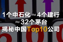 1个中石化≈4个建行≈32个茅台 揭秘中国Top10公司