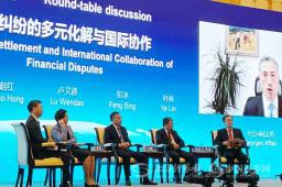 """中外嘉宾以""""金融纠纷的多元化解与国际协作""""为主题展开研讨"""